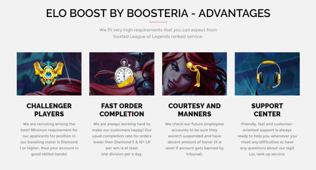 Advantages of Boosteria