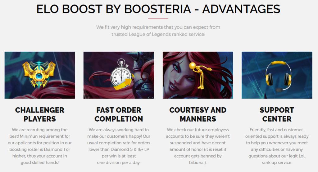 boosteria league of legends boosting advantages
